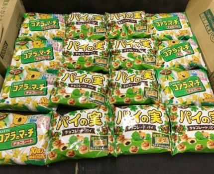 訳あり大量買い☆ロッテ シェアパック大量セット!パイの実9袋コアラのマーチ7袋合計16袋お菓子☆1円~ポイント消化 超豪華セット!