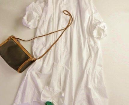 ニコアンド niko and… 羽織りにも! コットン100%ワイヤー衿ゆったりオーバーサイズシルエットマキシ丈ロング丈白シャツワンピース♪