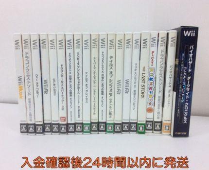 【1円】Wii ソフト まとめ売り セット 未検品 バイオハザード/アンパンマン/テイルズ/ドラクエ/ワンピース等 DC08-421jy/F4