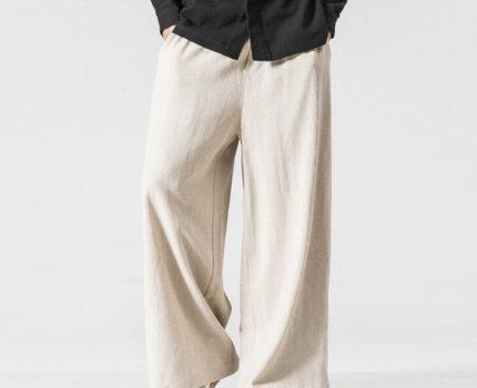 サルエルパンツ メンズ リネンパンツ 春 ワイドパンツ ガチョウパンツ カジュアルパンツ リラックス おしゃれ M-5XLベージュ
