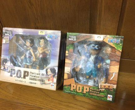 1円スタート!Portrait.Of.Pirates ワンピース CB-EX ルフィ&エース~兄弟の絆~&サボ 2点セット 未開封 POP P.O.P MILD