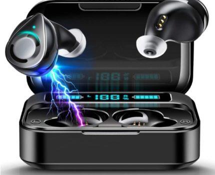 ワイヤレスイヤホン Bluetooth iPhone Android IPX5防水 高音質 AAC EDR 電池残量 自動ペアリング 人間工学 左右分離型 ★新品、未使用★