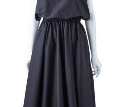 エンフォルドENFOLD 新品COブロードシャツドレス36 黒