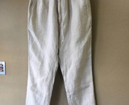 【UNUSED/アンユーズド】Linen Wide Trouser size4 麻 リネン ワイド トラウザー スラックス イージーパンツ ウエストドローコード付き