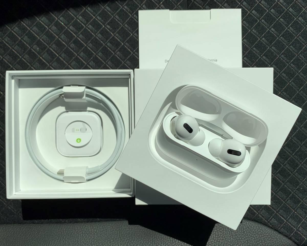未使用美品 Apple AirPods Pro MWP22J/A Model A2083 A2084 A2190 カナル型 ワイヤレスイヤホン アップル エアーポッズ プロ 日本版 正規品