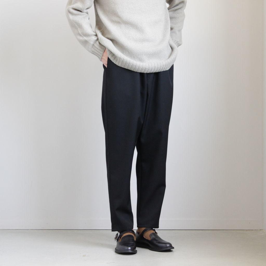定価30800円★ Graphpaper 20SS ウール ワイド リブ パンツ SELVAGE WOOL COOK PANTS グラフペーパー ★ ブラック