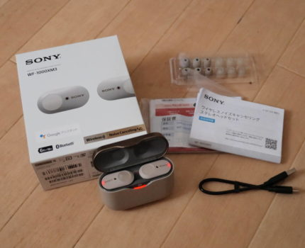 美品 ソニー WF-1000XM3 ワイヤレスイヤホン ノイズキャンセリング プラチナシルバー SONY Bluetooth 中古