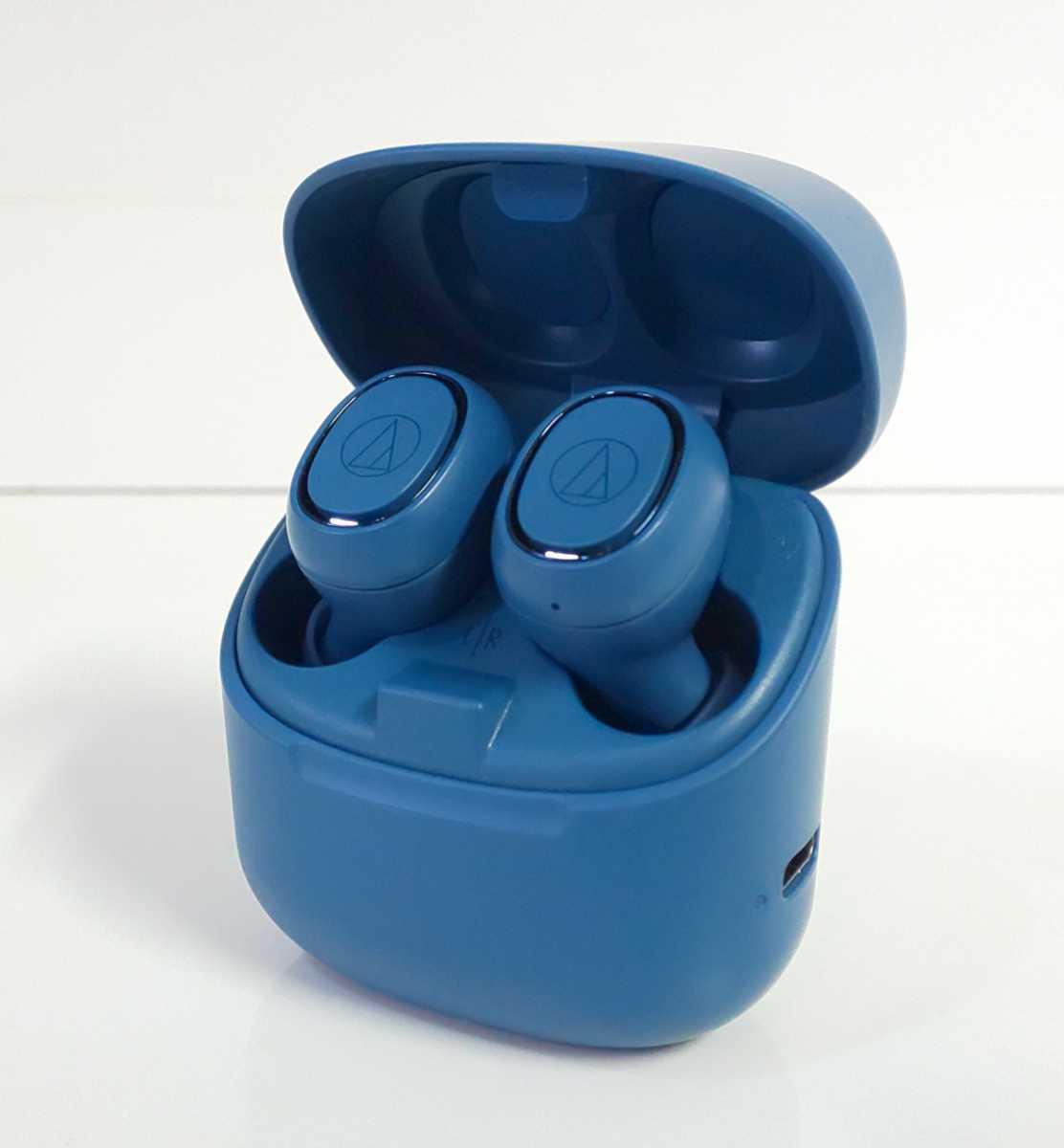 送料無料audio-technica動作品ワイヤレスイヤホン売切りATH-CK3TWブルー美品オーディオテクニカBluetooth清掃済イヤフォン格安