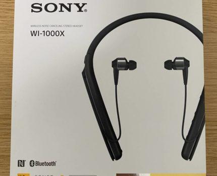 【1円~ 美品】SONY ソニー ノイズキャンセリングイヤホン WI-1000X ブラック ワイヤレス Bluetooth カナル型 マイク付き