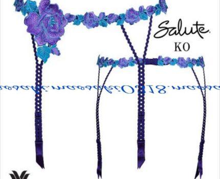 Wacoal ワコール サルート 82 ミュージカル女優 ガーターベルト koカラー 人気カラー ブルー系 整理品 Mサイズ レア ガーター お値打ち品