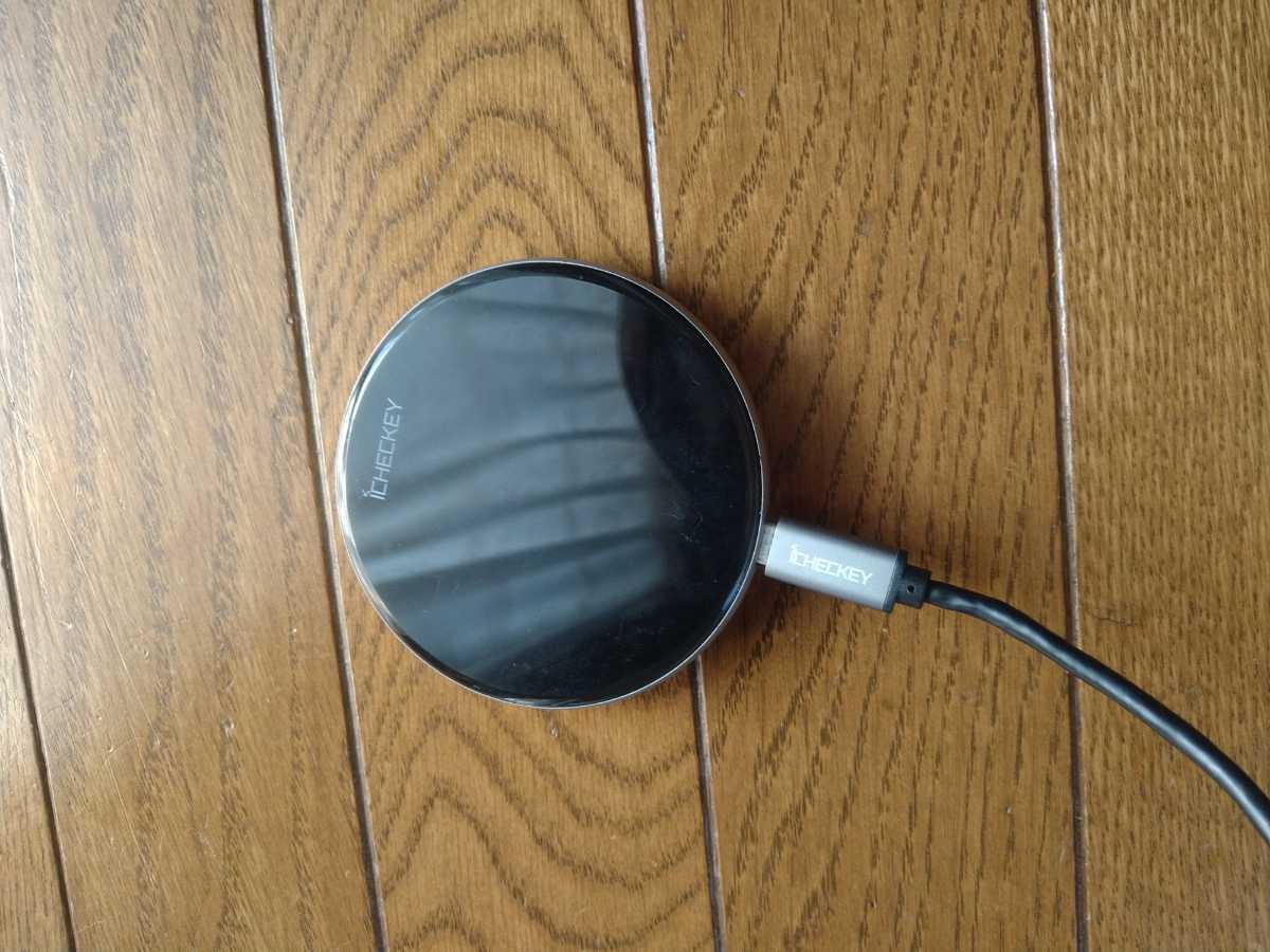 ワイヤレス充電器 iPhone Android ブラック Qi充電器 急速15W