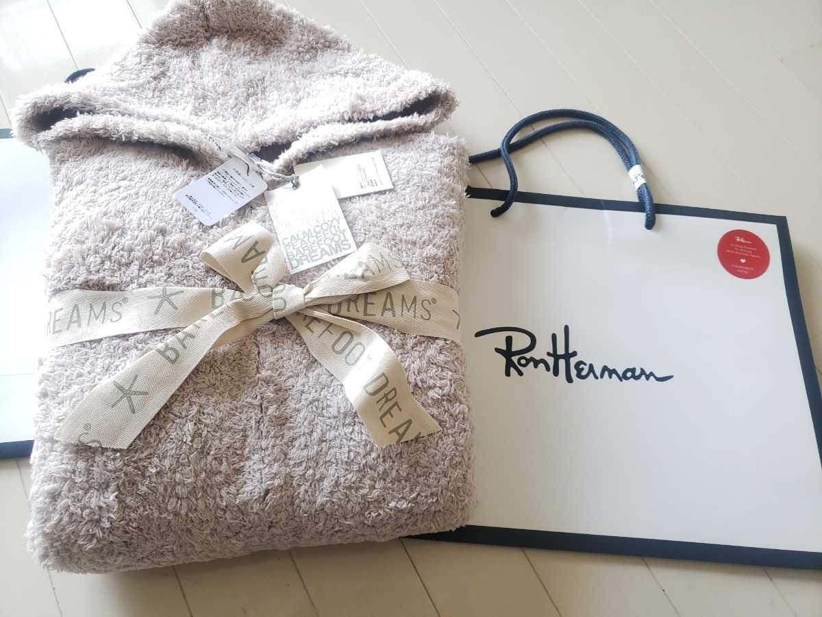 売切り RonHerman ベアフット L ロンハーマン アイボリーー 新品 正規 パーカー ニット BAREFOOT DREAMS コラボ RHC
