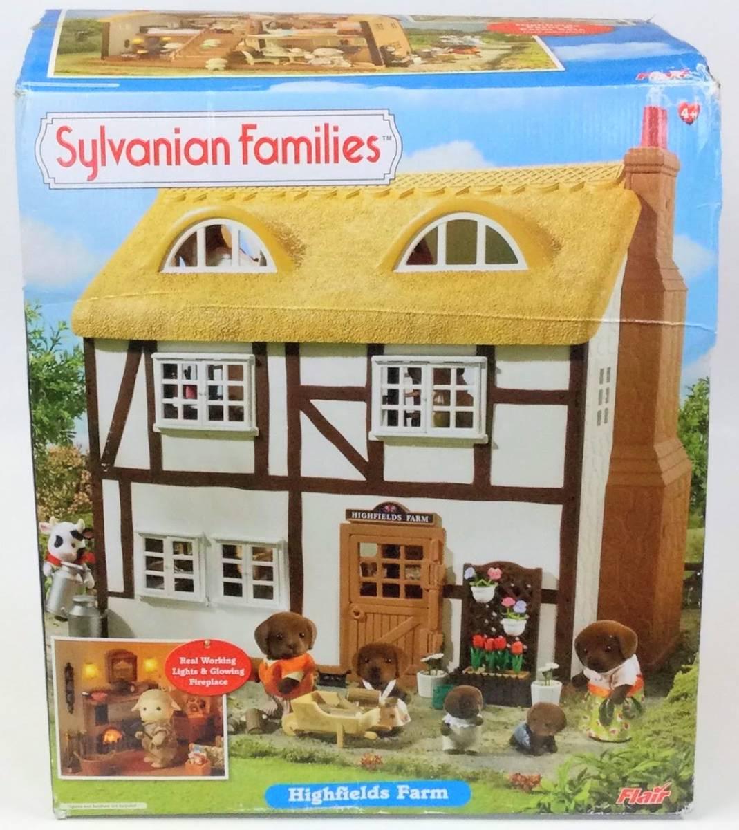 シルバニアファミリー ハイフィールズ ファームハウス オリジナルBOX付き シルバニア UK イギリス 付属品多数