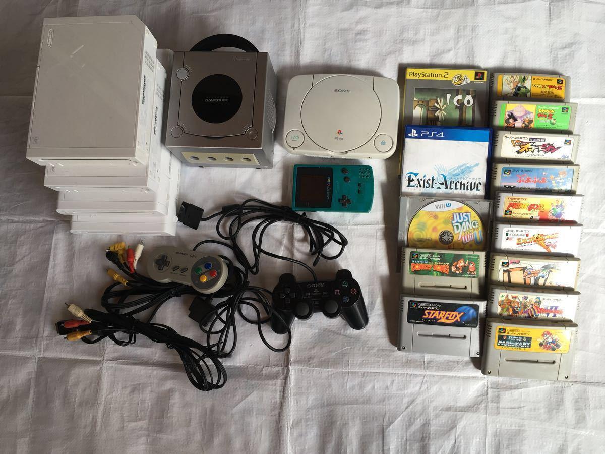 スーパーファミコン ゲームキューブ ゲームボーイ PSone PS2 PS4 Wii WiiU 本体 ソフト コントローラ 他 色々 まとめセット ジャンク品