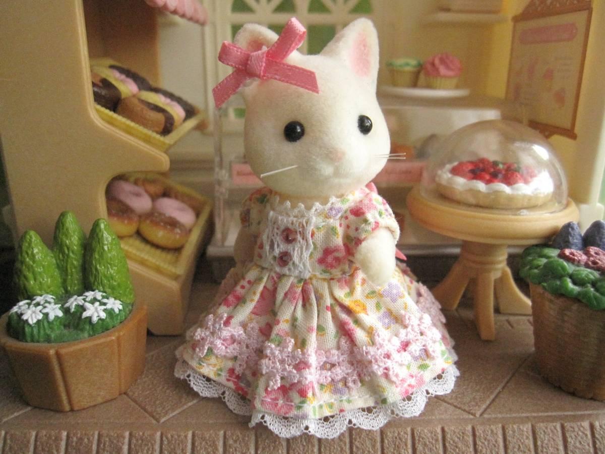 シルバニア★女の子サイズのお洋服 ピンク★ハンドメイド★OUTFIT★手作りお洋服