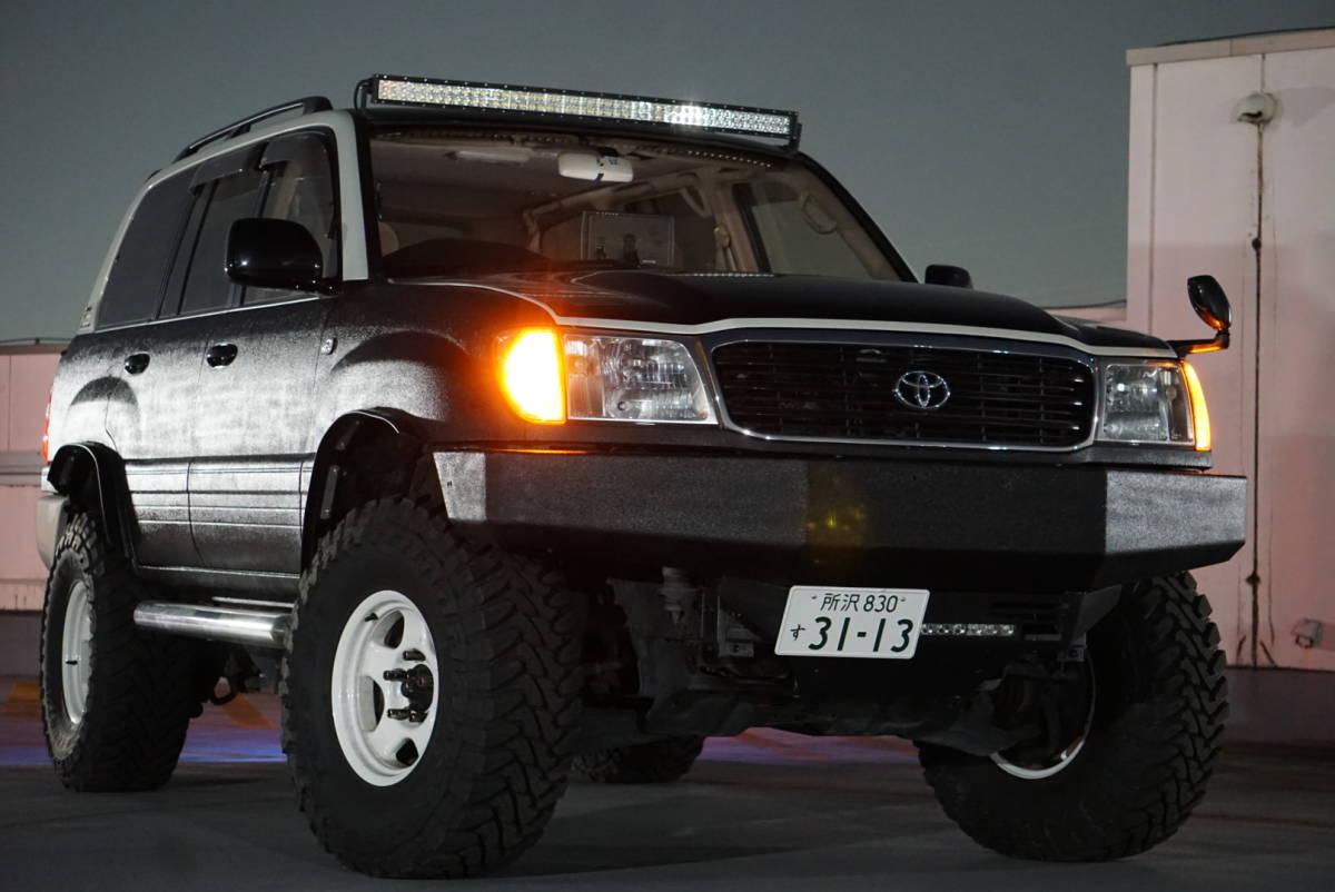 低走行 H10 UZJ100W ランドクルーザー100 ランクル AHC 8ナンバー 4AT 車検取立て ボディリフト カスタム多数 ガソリン V8 個人