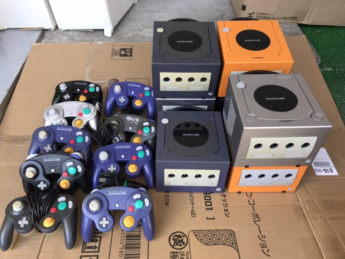 任天堂 ニンテンドー ゲームキューブ 本体7台 コントローラー9個 まとめ ジャンク Game Cube NINTENDO