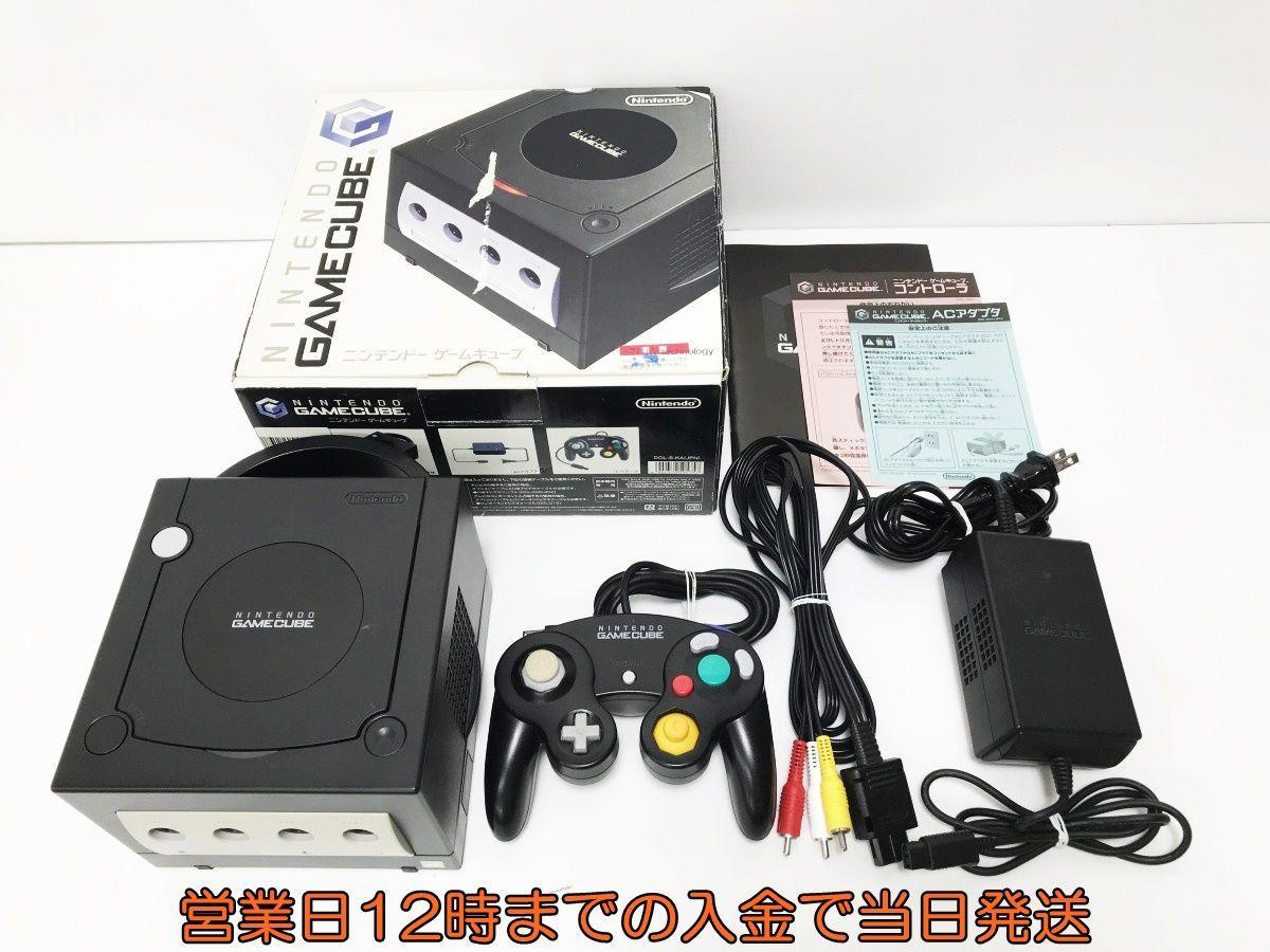 【1円】任天堂 ゲームキューブ GC 本体 セット ブラック 動作確認済 内箱なし DC08-219mc/F4