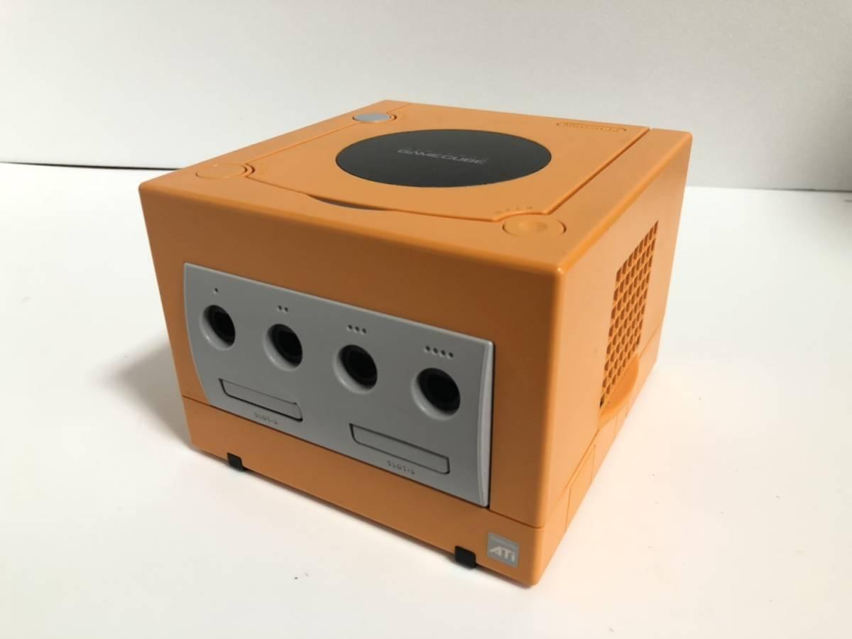 【1円~】Nintendo/任天堂/ニンテンドー DOL-001 GAME CUBE/ゲームキューブ 本体 オレンジ ゲーム機