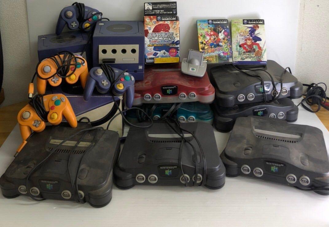 K226-4 Nintendo ゲームキューブ 本体 ニンテンドー64 本体 キューブソフト まとめ ジャンク