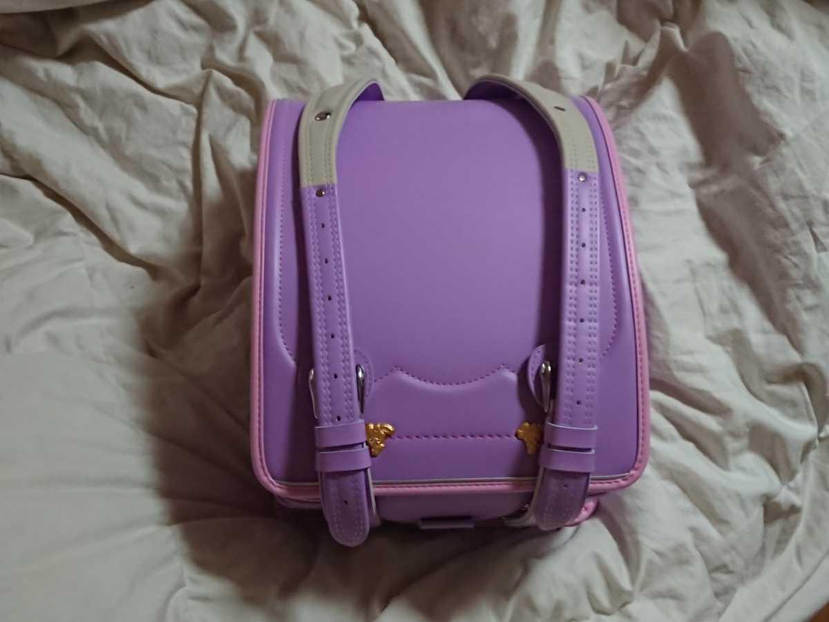 未使用・定価62700円・ぼんぼんりぼん・ランドセル・パープル・自動ロック・A4フラットファイル対応・入学・アウトレット