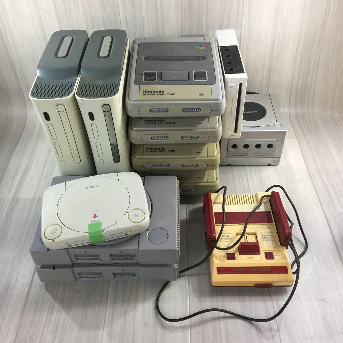 ゲーム機本体 まとめ売り xbox 2台/スーパーファミコン4台/PS one 1台/プレイステーション2台/ゲームキューブ1台/ファミコン 1台