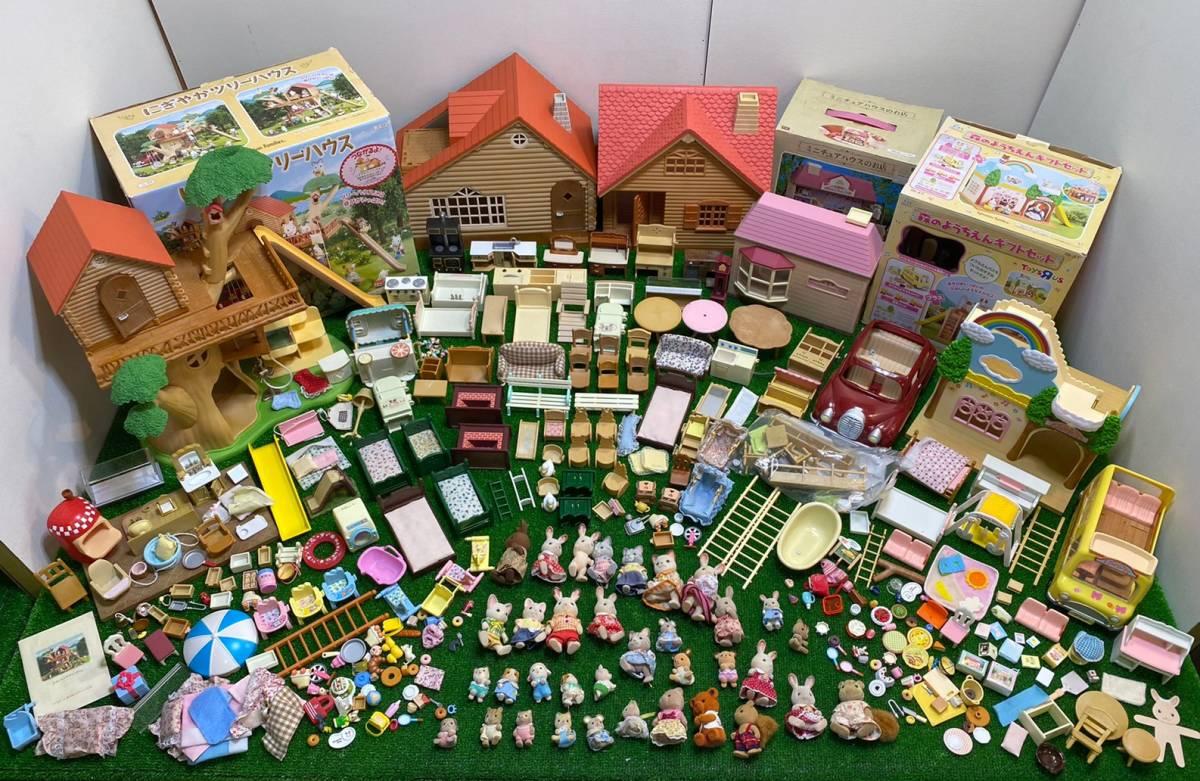 〇21-160 シルバニアファミリー ジャンク シルバニア ツリーハウス ミニチュアハウスのお店 森のようちえん パーツ 人形 大量 まとめて