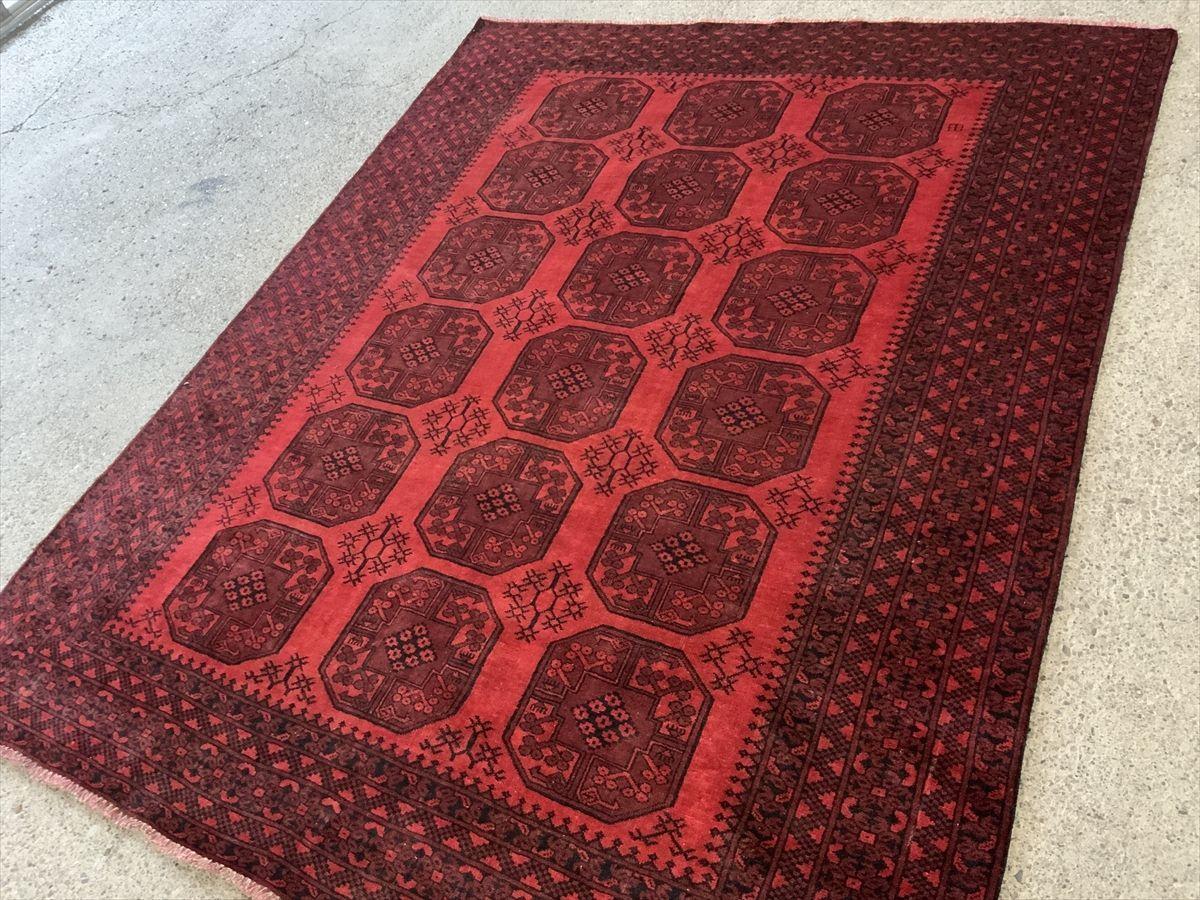 250×196cm アフガニスタン産 絨毯 ラグ アンティーク家具 マジック カーペット 03ZZMRB210413012E