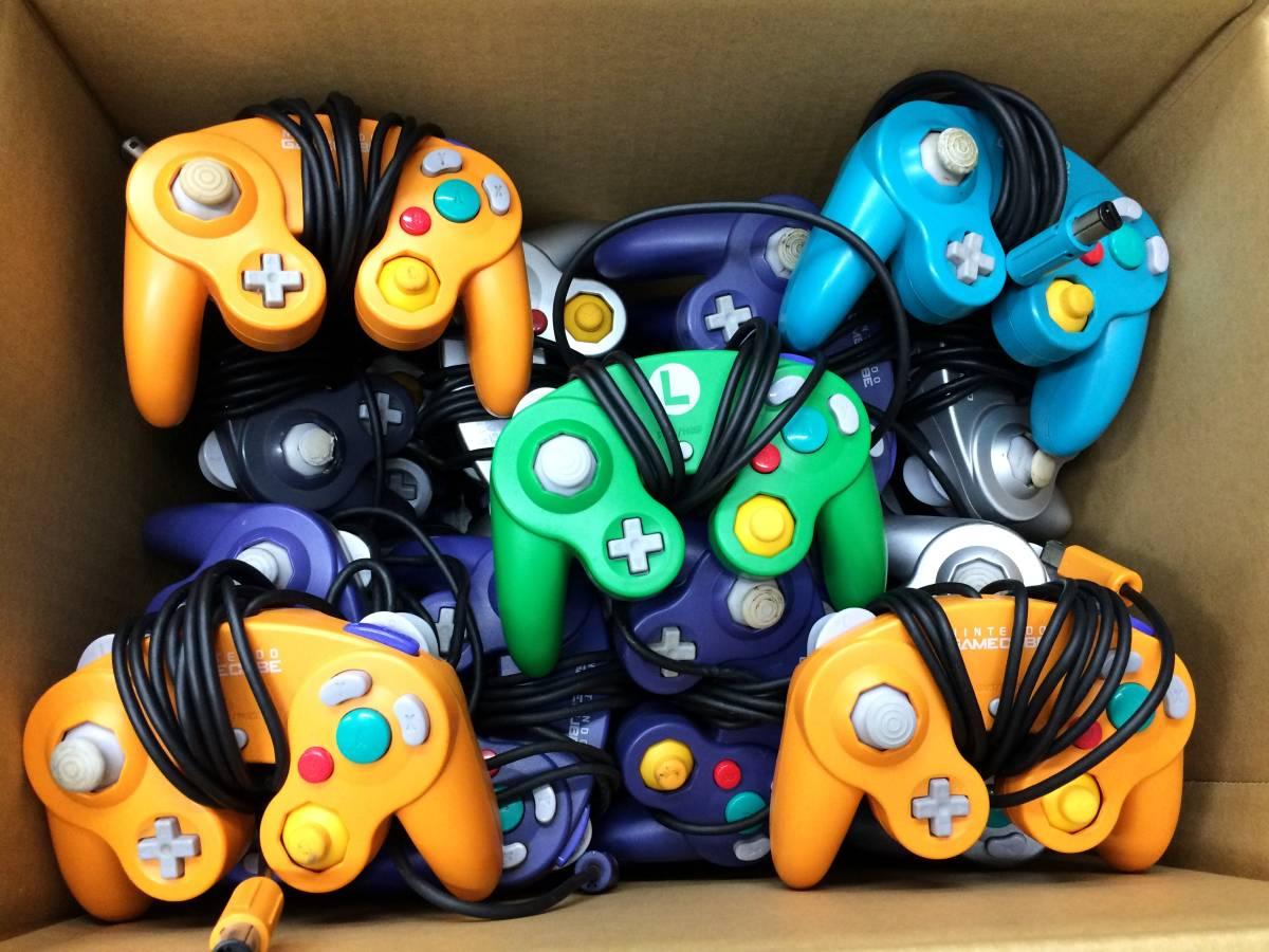 【z85-57/100/0】ゲームキューブ コントローラー 約29個セット 未チェック ジャンク GC まとめ売り 大量 任天堂