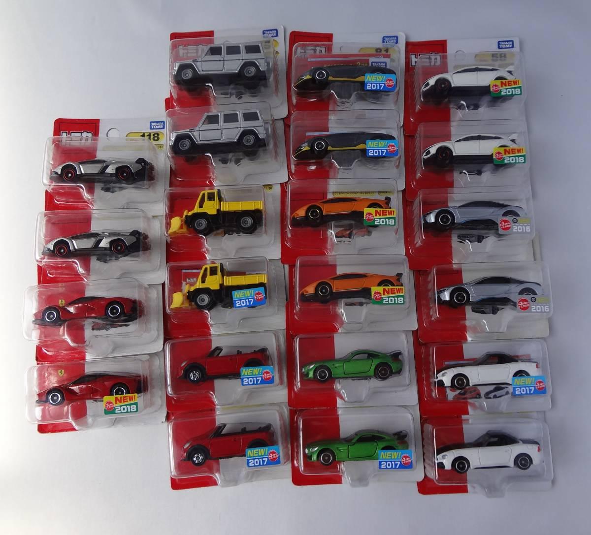 トミカ ホンダ/ランボルギーニ/BMW/メルセデスベンツ/ミニクーパー/ラフェラーリ/アバルト 22台セット まとめて