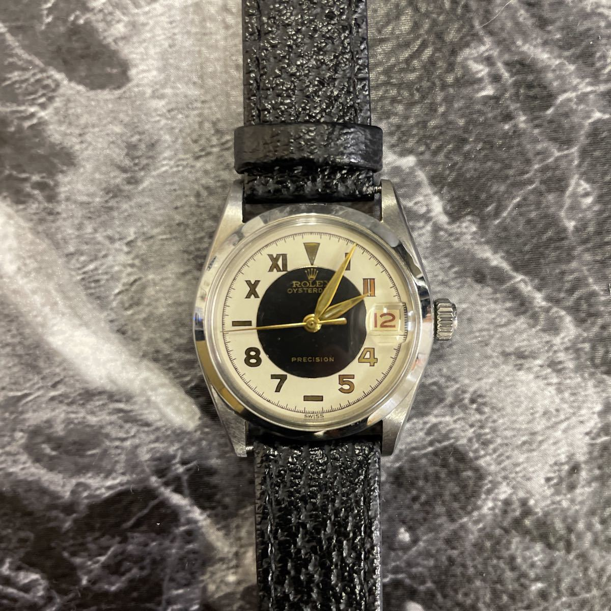 希少文字盤・稼働品・ROLEX ロレックス オイスターデイト プレシジョン 腕時計 ボーイズ メンズ 6466 17石 アンティーク 手巻き式//3260