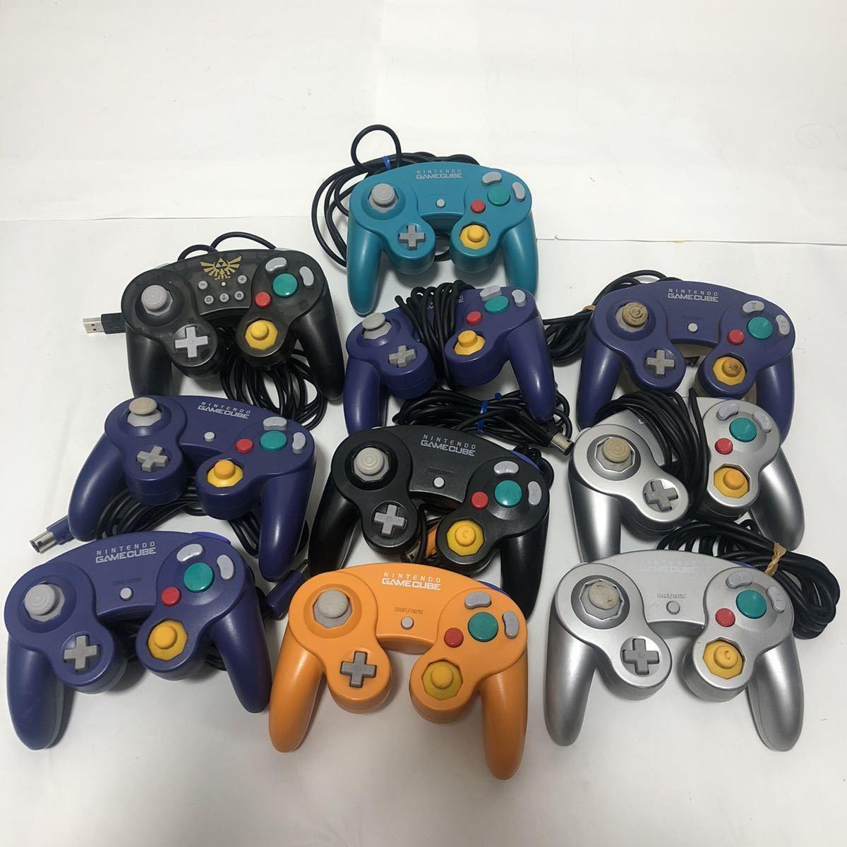 1円~【動作未チェック】Nintendo 任天堂 ニンテンドー GAMECUBE ゲームキューブ GC コントローラー controller まとめ 10個 ジャンク