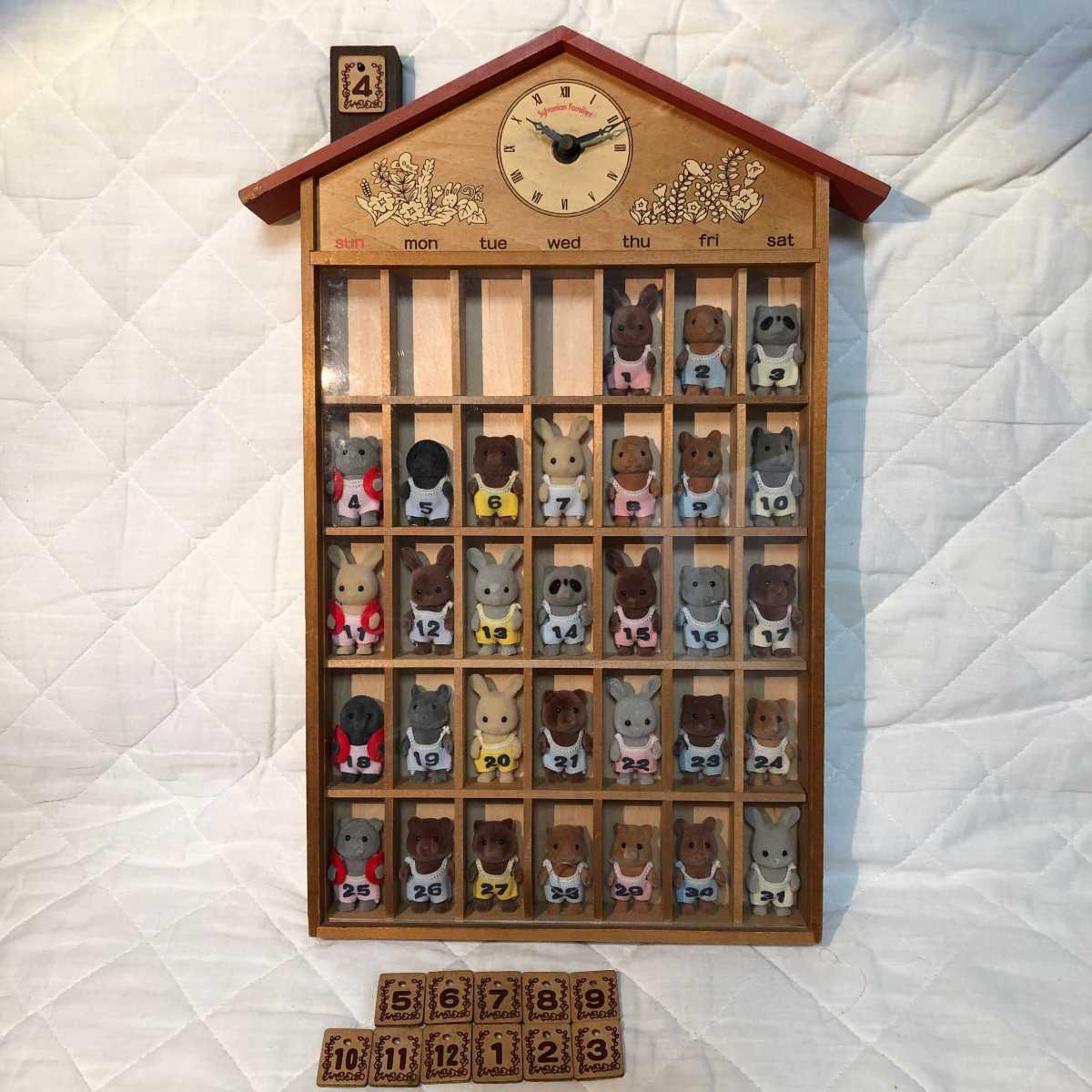 【レア 動作品】シルバニアファミリー 赤ちゃんカレンダー 時計
