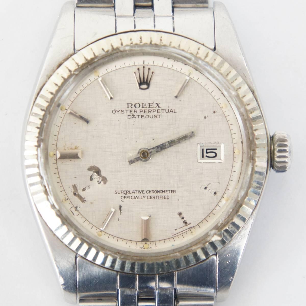 ROLEX ロレックス オイスターパーペチュアル DATEJUST デイトジャスト Ref:1601 メンズ 自動巻き 腕時計 040617