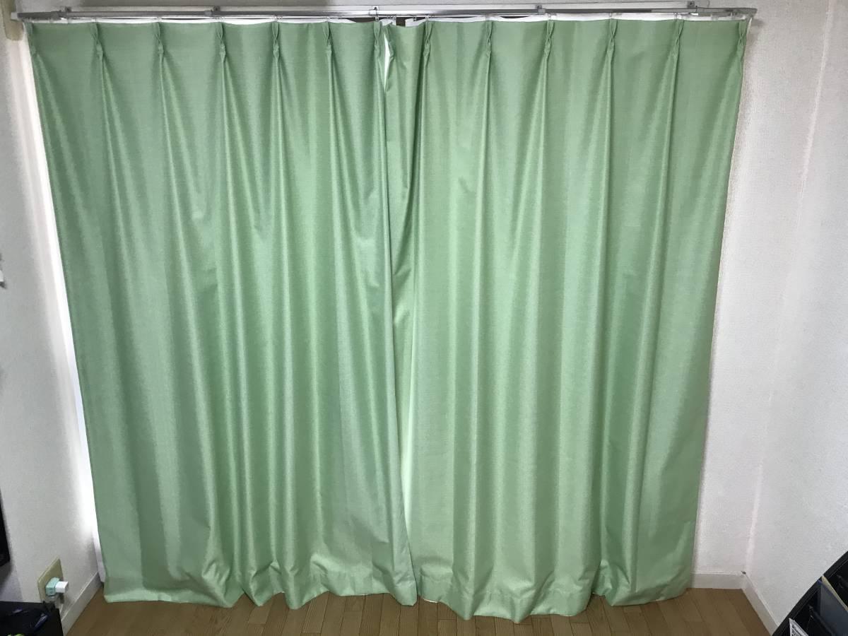 遮光カーテン&レースカーテンセット 幅100×丈175 ①