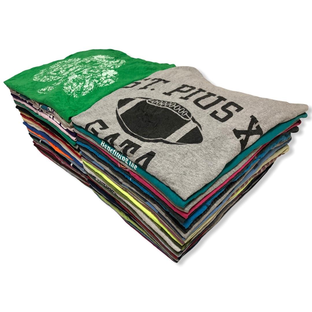 1円スタートUSA製アメリカ古着卸アメカジ50枚プリントXLカレッジTシャツ大量セット業販80sビンテージ90s福袋フルーツまとめ売りベールHanes