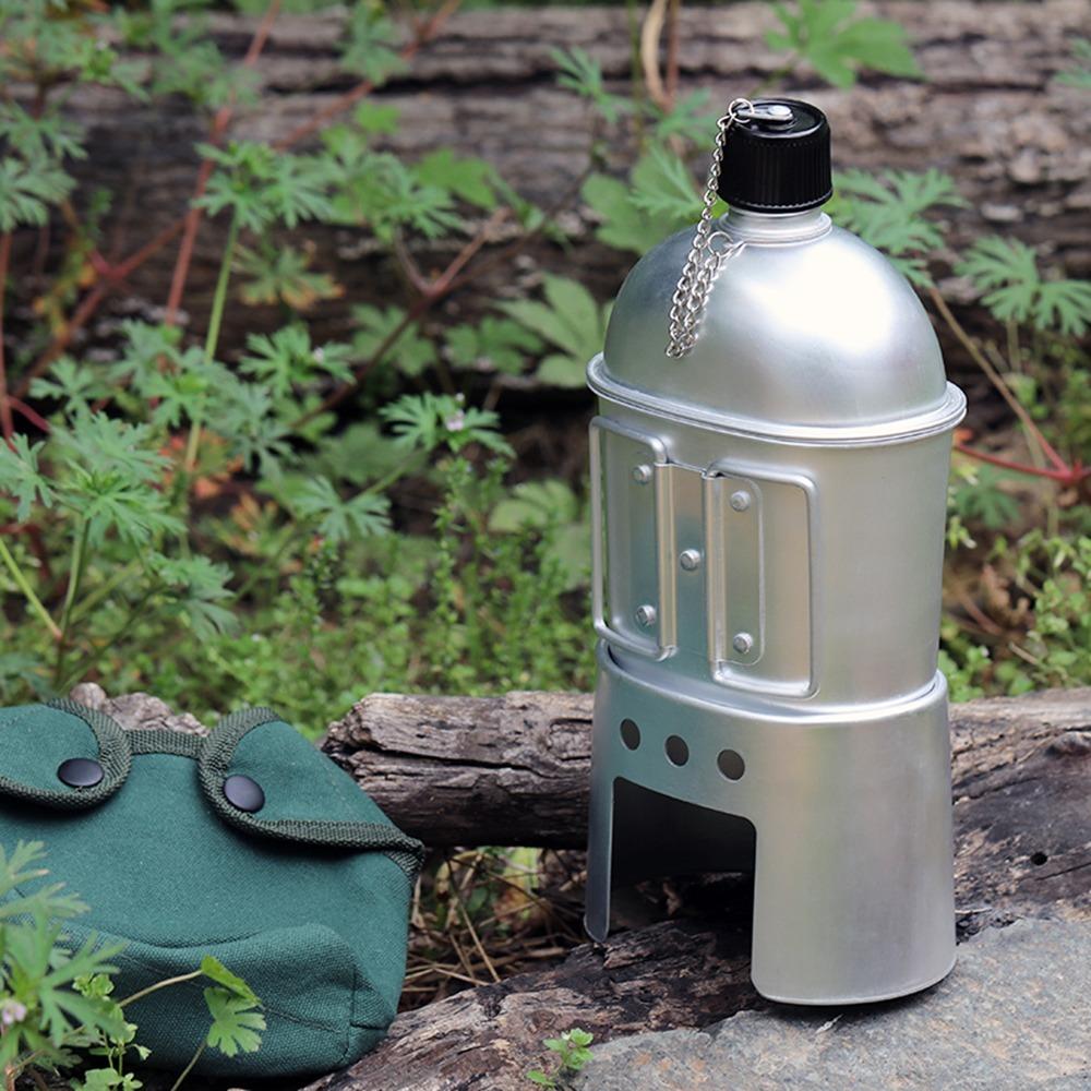 【最安値】3 個セット 薪 ストーブセット アルミ ミリタリー 水筒 カップ 水 ボトル キャンプ 調理器具セット