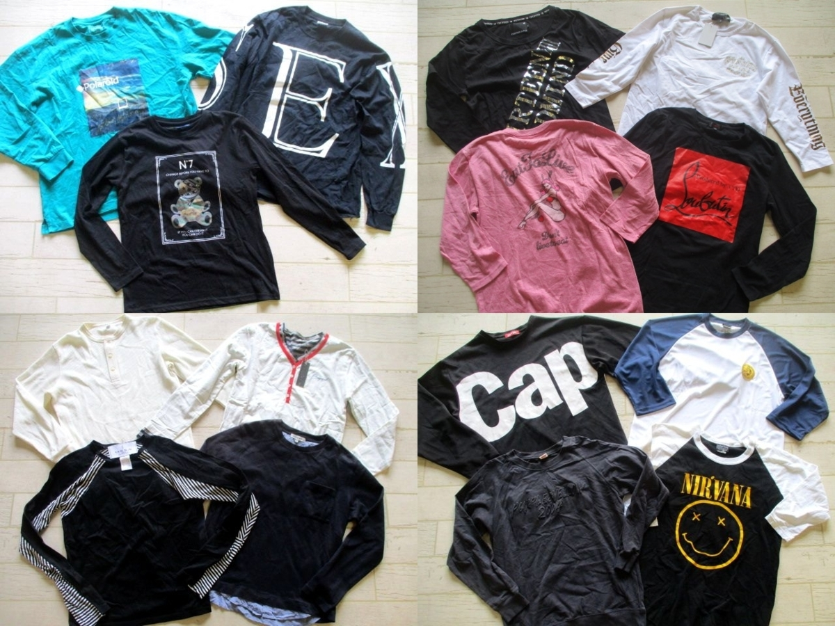 ●メンズ 長袖Tシャツ ロンT 福袋 まとめて まとめ売り 45点 セット 大量 洋服 古着 仕入れ ●104
