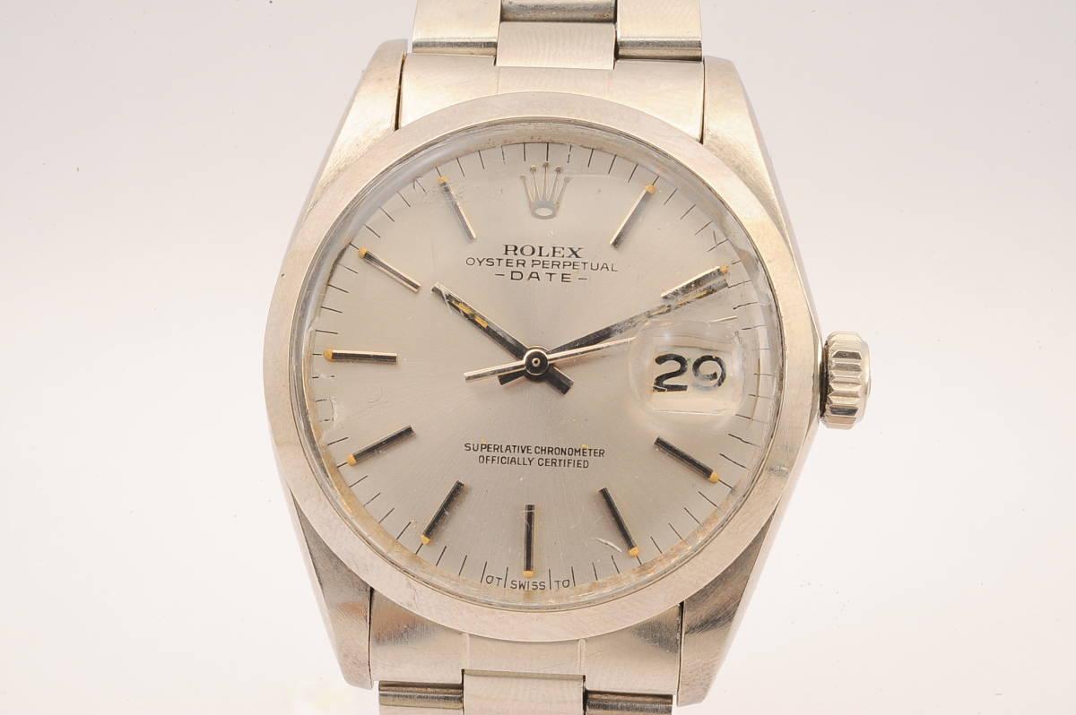 ロレックス オイスターパーペチュアル デイト Ref,1500 ROLEX OYSTER PERTETUAL DATE Cal,1570 自動巻 男性 腕時計 D461679 [3790377]