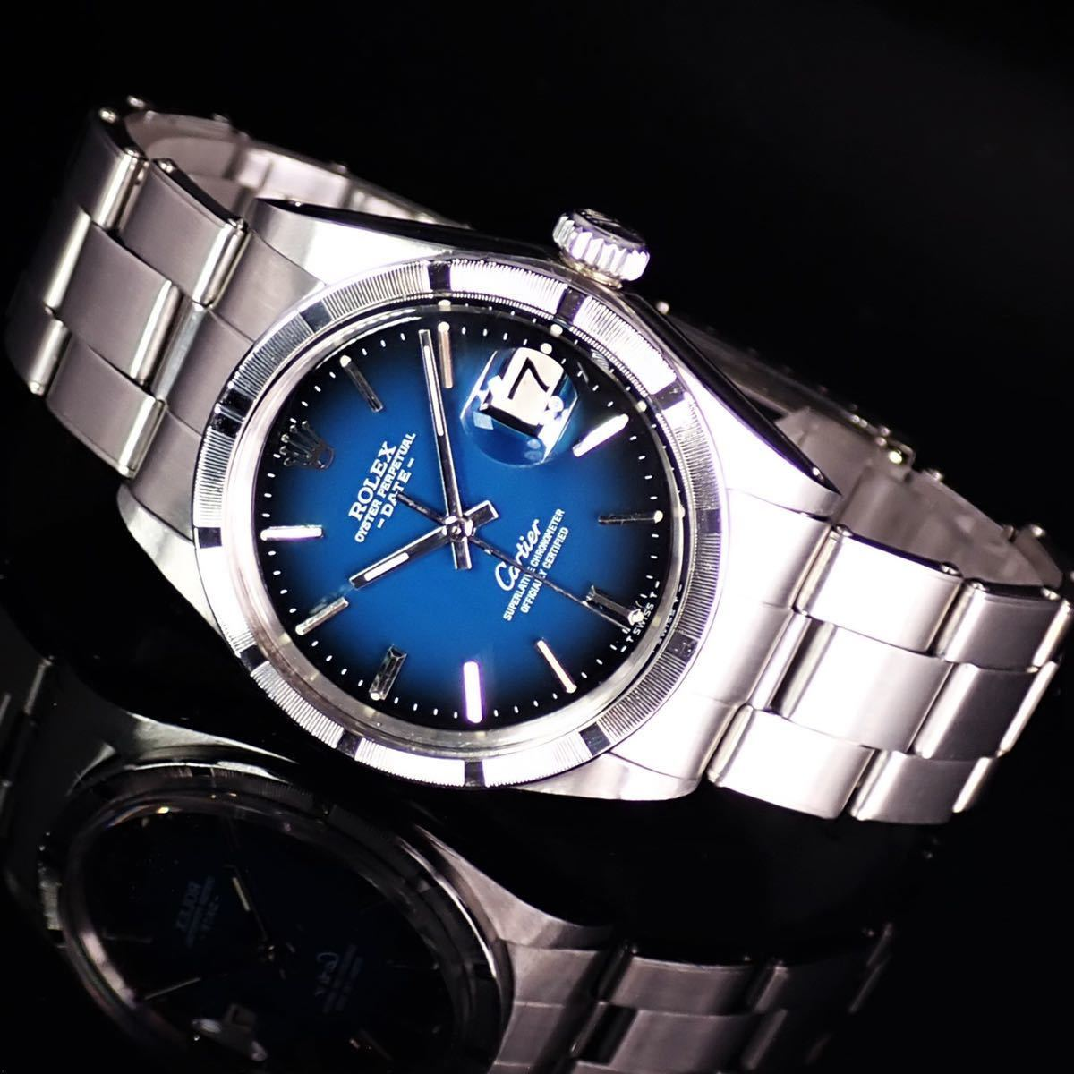 【激レア】本物ロレックス Rolex デイト 1501 ★オーバーホール済★ 希少なブルーグラデーション文字盤 メンズ 腕時計