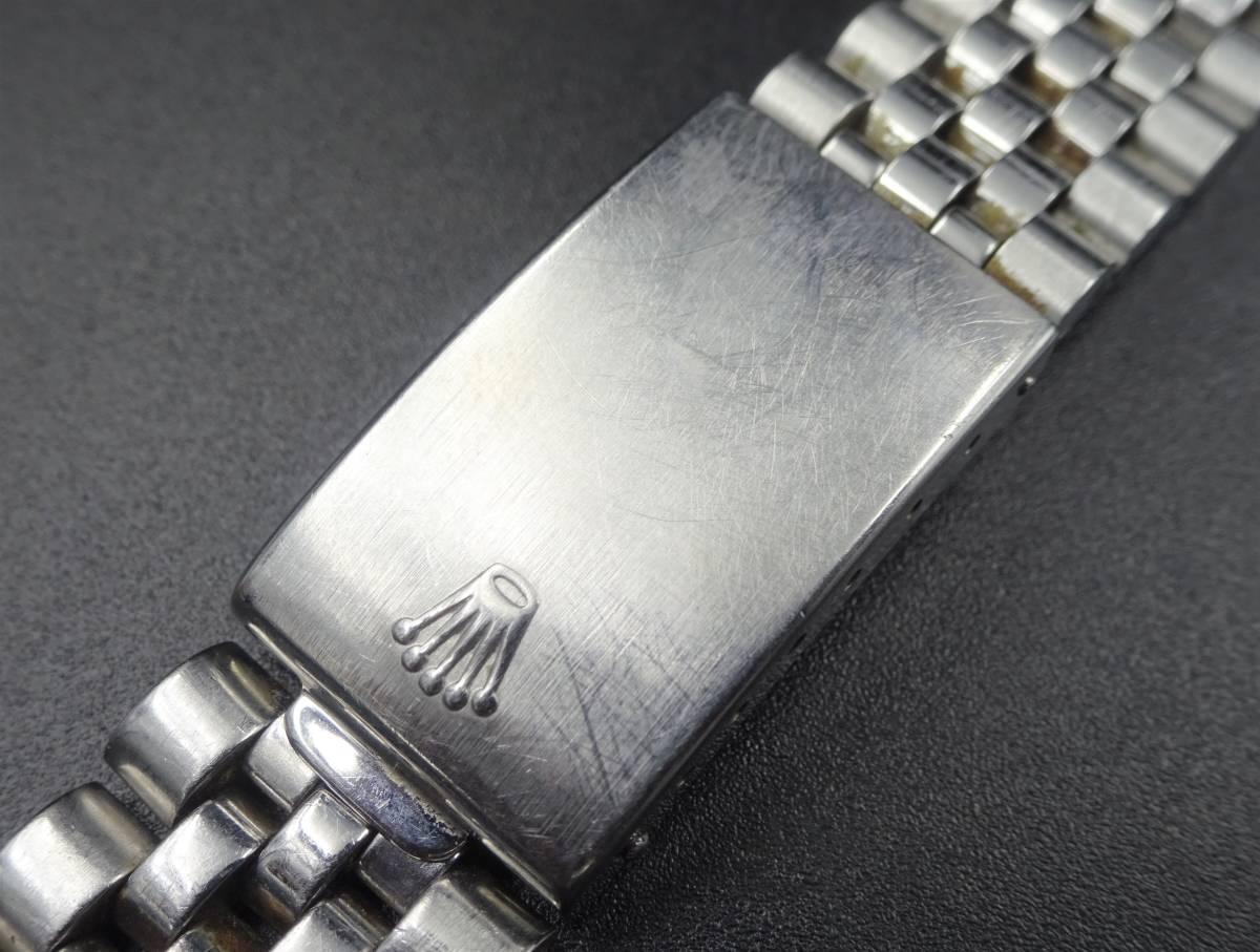 1円 ROLEX ロレックス 純正バックル 62510H 取付幅20mm用 SS 5連 ベルト ヴィンテージ メンズ 時計 パーツ 10