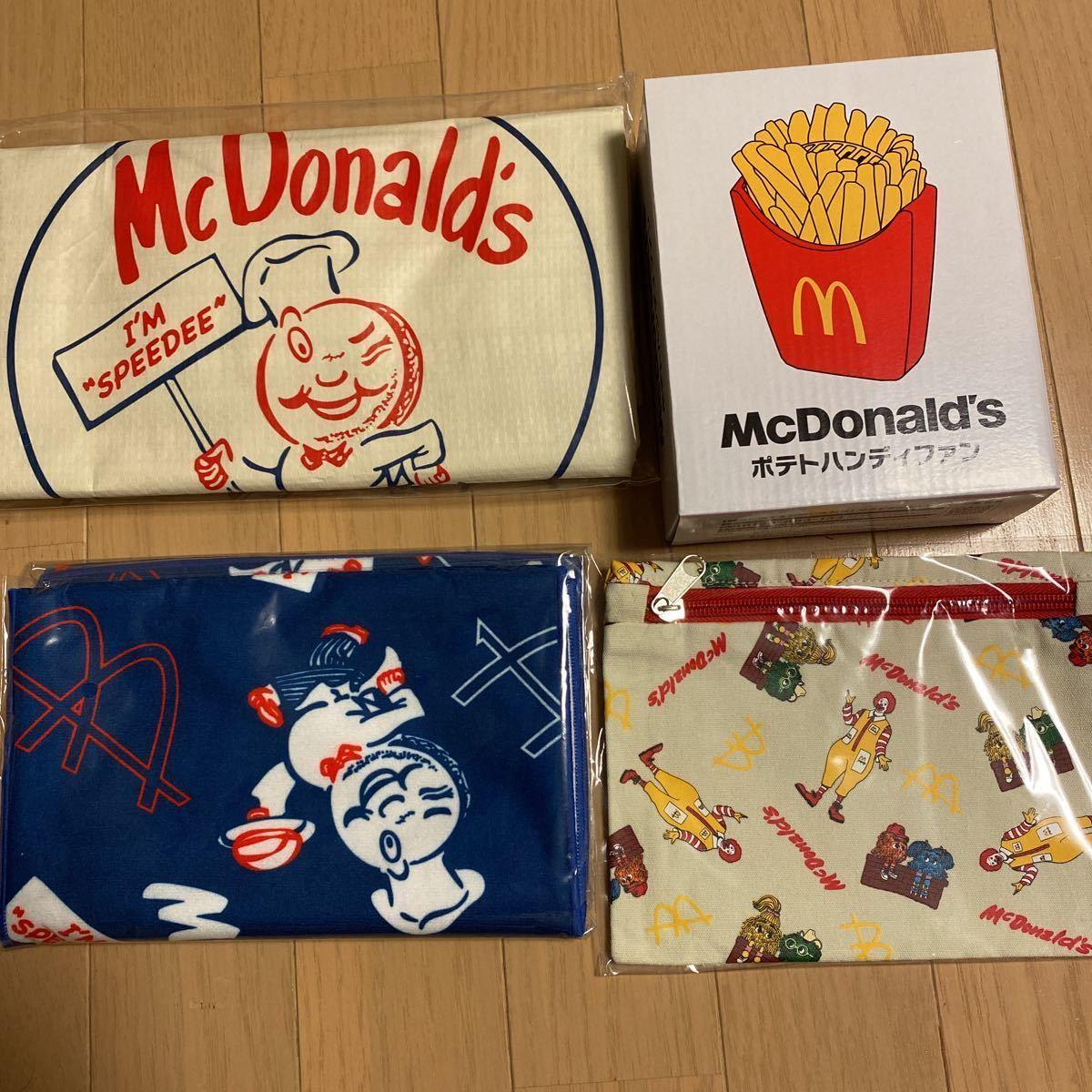 新品 マクドナルド BIG SMILE BAG グッズのみ 50周年福袋 ハンディファン(ポテトファン)ひんやりタオル ビッグスマイルバッグ マック