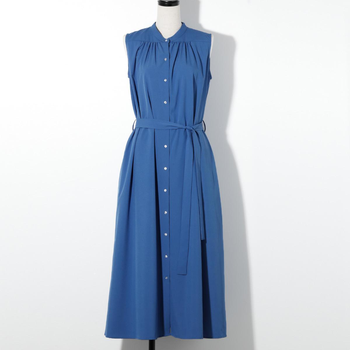 【STYLE DELI】さらさらギャザーロングワンピース/ブルー・02・234019