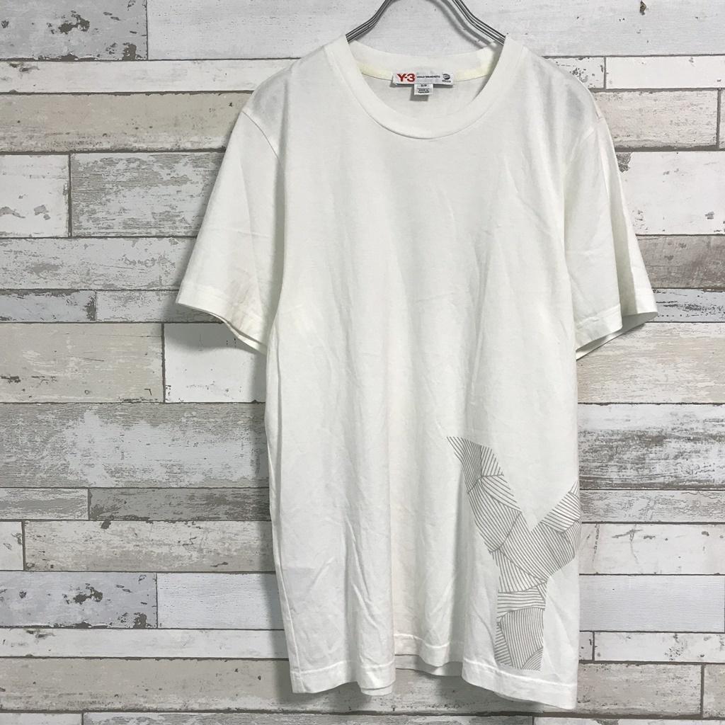 ◆ Y-3 ワイスリー ◆ヨウジヤマモト adidas ビッグロゴ Tシャツ ホワイト yohji yamamoto◆