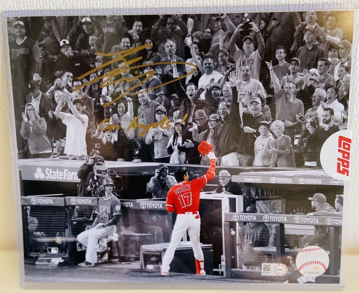 超激レア10個限定デビュー2018年サイン 大谷翔平 直筆サイン写真8×10フォト TOPPS製 MLB証明イチロートップス インスクリプション入り