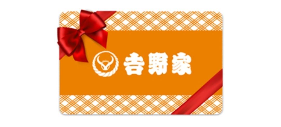 吉野家 牛丼 デジタルギフトチケット 500円 2枚 クーポン