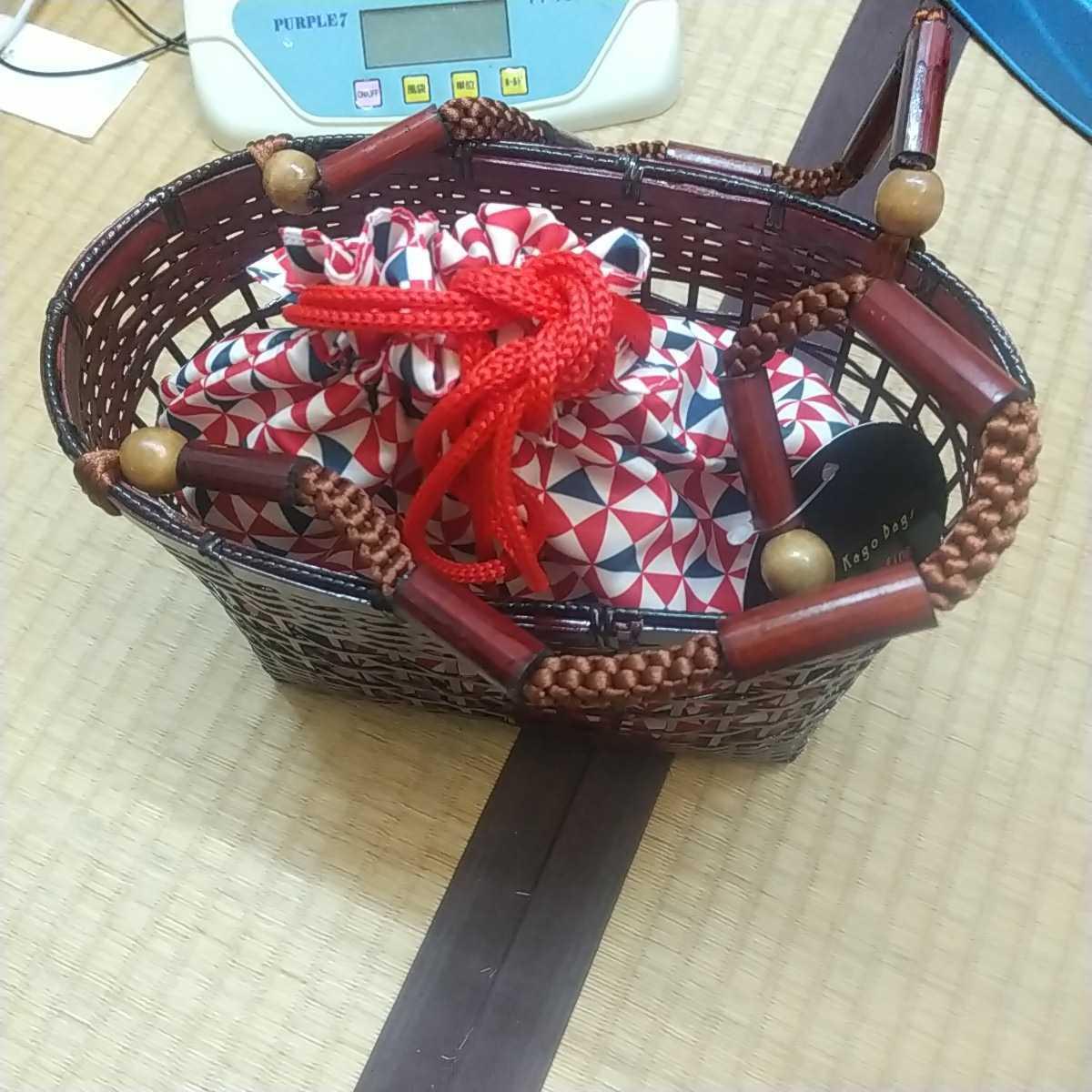浴衣、夏着物カゴバッグ④