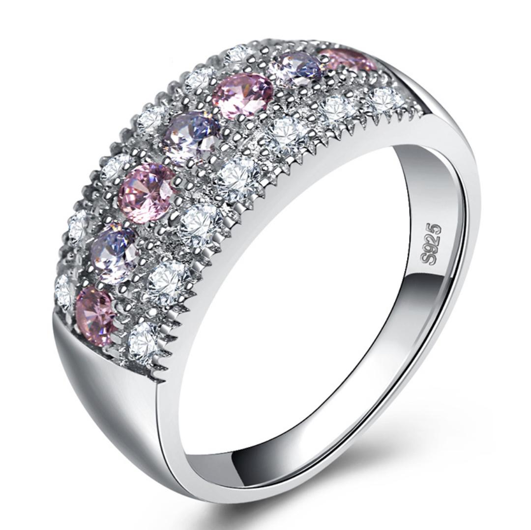 『世界一豪華』価格高騰中 ◆ 21石 レディースピンクサファイアダイヤリング指輪 【プラチナ仕上】