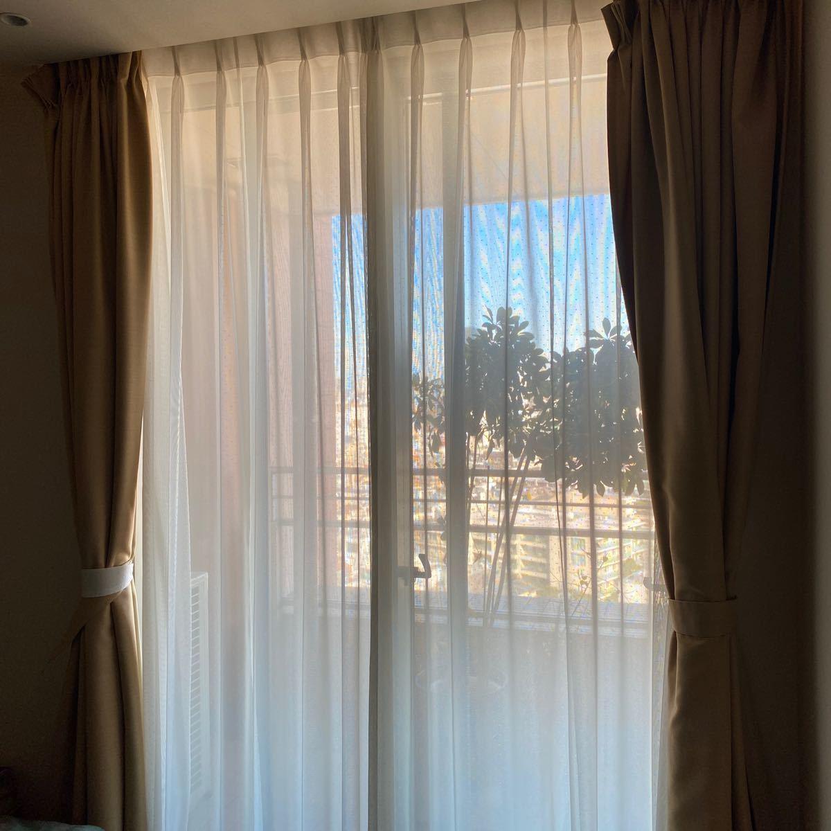 東リ★高級レースカーテン 高さ250cm×幅110cm(カーテンレール幅)×2枚セット