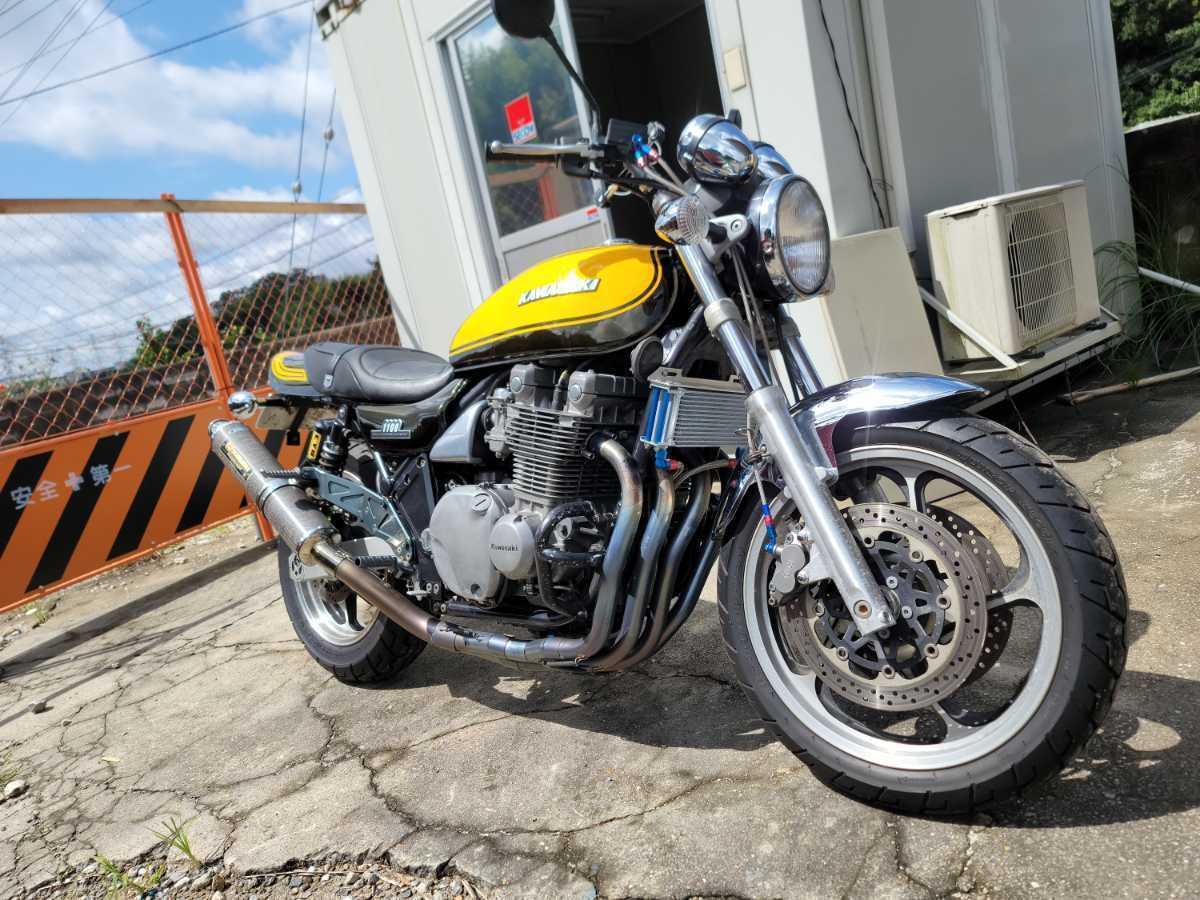 ZEPHYR1100ドレミ外装 ヨシムラチタンUPマフラー車検1年半残ってます。個人税込 即決はバイクBOX付き動画有ります。